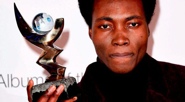 Benjamin Clementine who has won the Mercury Prize for his album At Least For Now at the Mercury Music Prize awards at BBC Broadcasting House, London