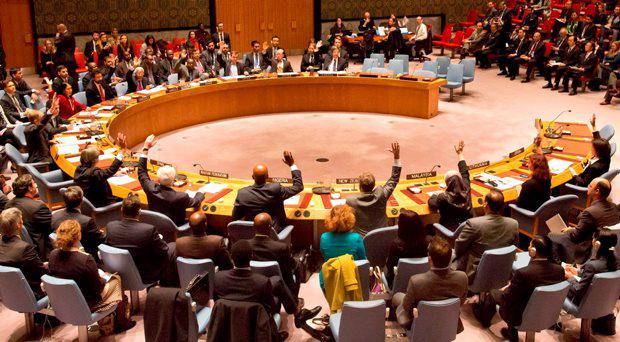 U.N. Security Council members vote on a French-sponsored counter terrorism resolution aimed at Islamic extremist, Friday, Nov. 20, 2015 at United Nations headquarters