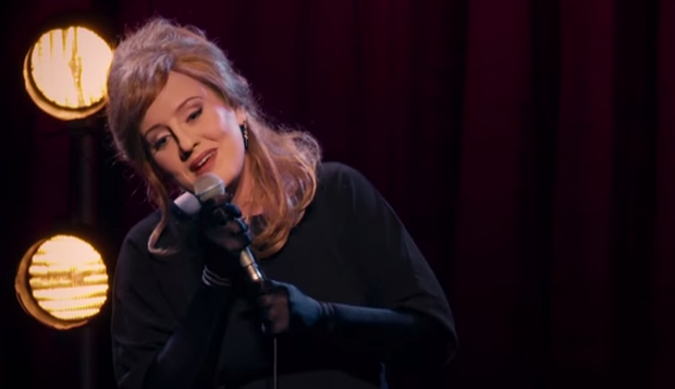 Adele dressed up as 'Jenny' to perform for a group of impersonators