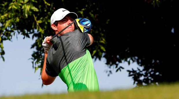 Rory McIlroy in action during the third round