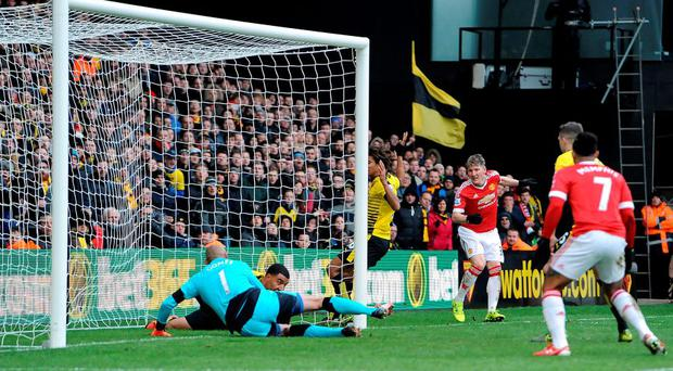 Manchester United's late winner against Watford at Vicarage Road