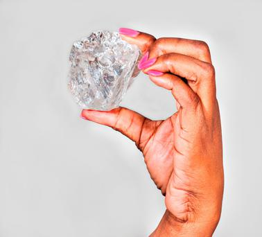 The magnificent stone, which originated from the south lobe of Lucaras Karowe Mine, is the worlds second largest gem quality diamond ever recovered and the largest ever to be recovered through a modern processing facility. PhotoAFP/Getty Images