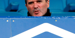 Roy Keane watches yesterday's Premier League match between Everton and Aston Villa