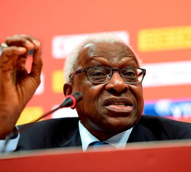 Former International Association of Athletics Federations (IAAF) president Lamine Diack