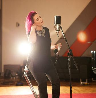 A WAKE-UP CALL: Jessica Smith wrapping up her recording at Windmill Lane studios