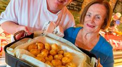 TRADITIONAL TASTE: Pat Whelan with his mother Joan, who first had the idea of selling dripping