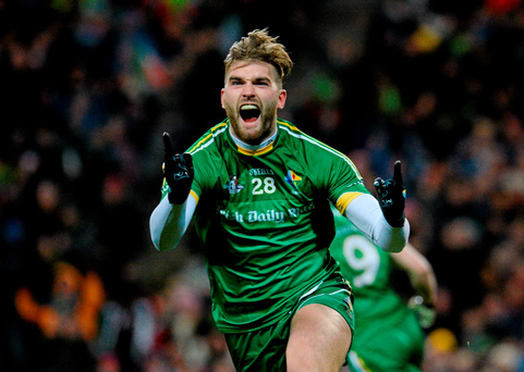 Aidan O'Shea, Ireland, celebrates after scoring Ireland's first goal in last year's encounter