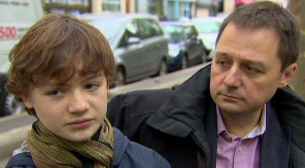 John Leader and son Oscar Photo: ABC News