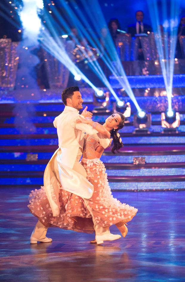 Giovanni Pernice and Georgia May Foote appearing on the Strictly Come Dancing live show