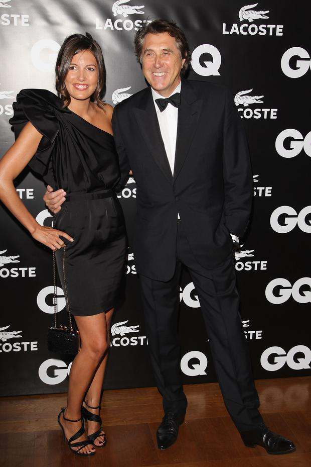 Brian Ferry and his wife Amanda Sheppard attend the 'GQ Man Of The Year 2010' party