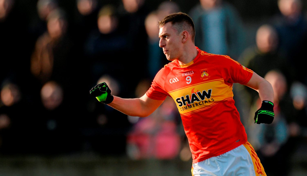 Barry Moran, Castlebar Mitchels, celebrates scoring his side's first goal. AIB Connacht GAA Senior Club Football Championship Final, Corofin v Castlebar Mitchels. Tuam Stadium, Tuam, Co. Galway. Picture credit: Piaras Ó Mídheach / SPORTSFILE