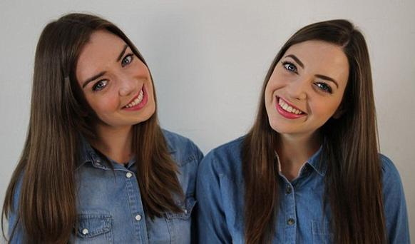 Niamh (right) pictured with her 'Twin Stranger' Irene Adams (left)
