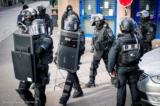 French security forces stormed a building in Saint Denis, Paris, where the mastermind of the Paris attacks Abdelhamid Abaaoud, was believed to be hiding, resulting in a shoot-out. ( FRANCIS PELLIER / Ministere de l'Interieur Dicom via AP)