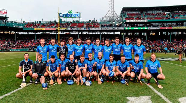 The Dublin squad. AIG Fenway Hurling Classic, Dublin v Galway back in 2015. Fenway Park, Boston, MA, USA. Picture credit: Ray McManus / SPORTSFILE