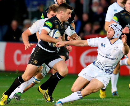 Bath's George Ford skips past Leinster's Isaac Boss at The Rec on Saturday