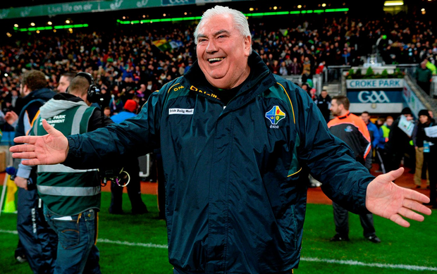 'It was a special occasion for Kernan as he became the first man to have managed his club (Crossmaglen Rangers) and county (Armagh) to All-Ireland glory, his province to Railway Cup success and his country to an international Test win'