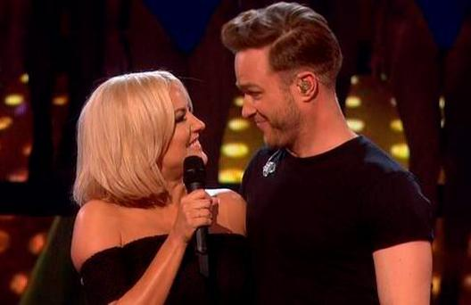 Caroline and Olly on Sunday's X Factor