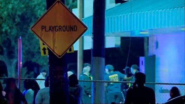 Police were on route to the block party when the shootings took place Credit: Times-Picayune\Youtbe