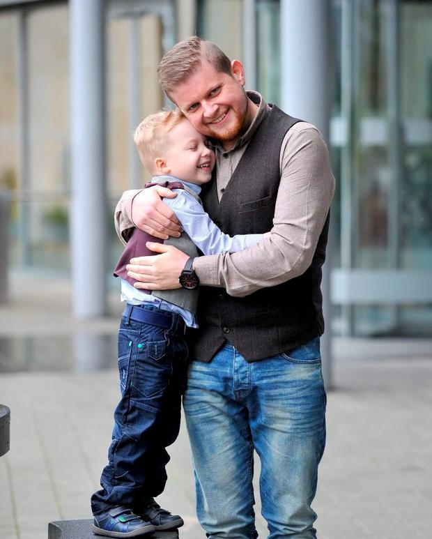 Colm pictured with his little son Sean who was his main weight loss motivation