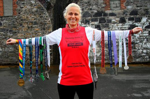 Marathon woman Brenda O'Keeffe is planning to 'Run Home for Christmas' all the way from Dublin to Cavan (Photo: Lorraine Teevan)