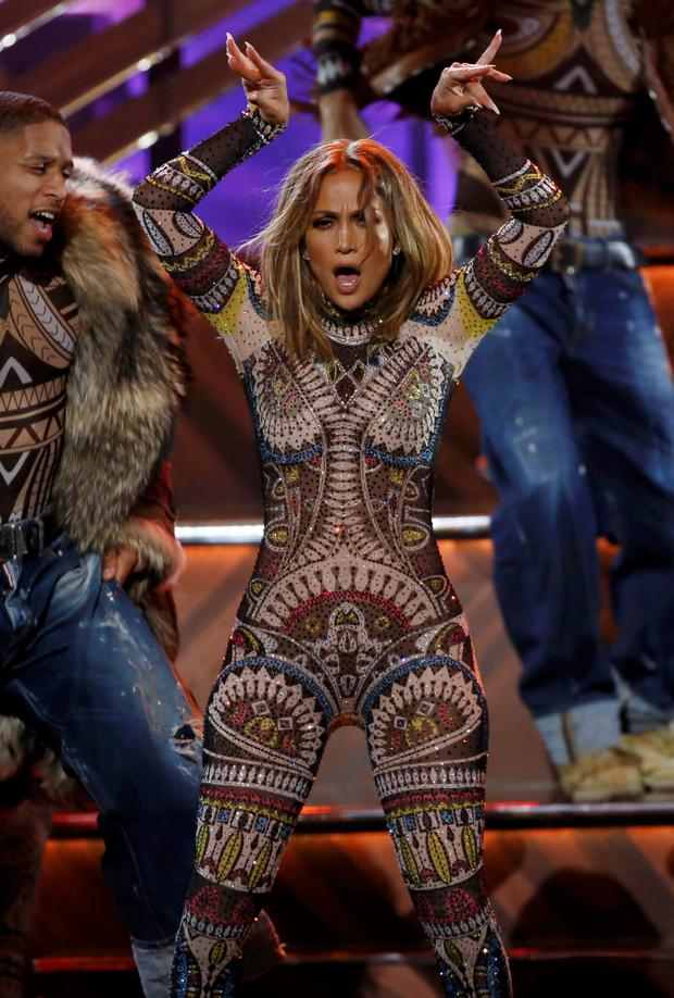 host jennifer lopez performs during the 2015 american music awards in los angeles california november