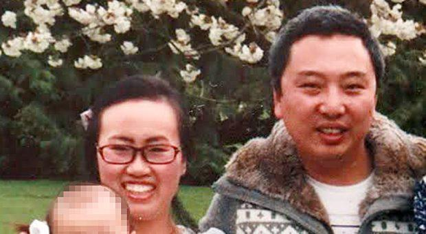 Qing Qu, who died in a hit and run in Blanchardstown on Tuesday morning, pictured with his wife Li Lui