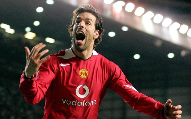 Goal machine: Ruud Van Nistelrooy was incredibly prolific for Manchester United