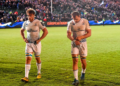 Leinster playeers Rhys Ruddock and Dominic Ryan following their defeat to Bath