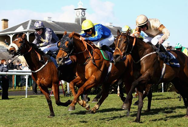 Darren Egan (centre on board Levitate) has been disqualified with immediate effect after being found guilty of corruption charges by the disciplinary panel of the British Horseracing Authority.