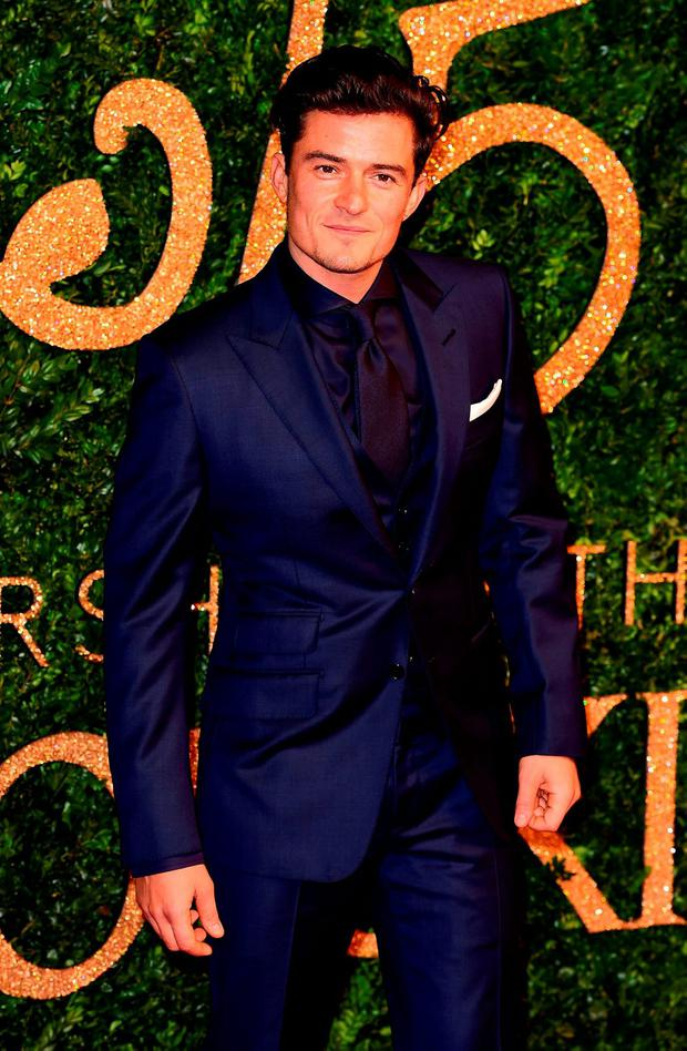 Orlando Bloom attending the British Fashion Awards at the London Coliseum, St Martin's Lane, in London Credit: Ian West/PA Wire.