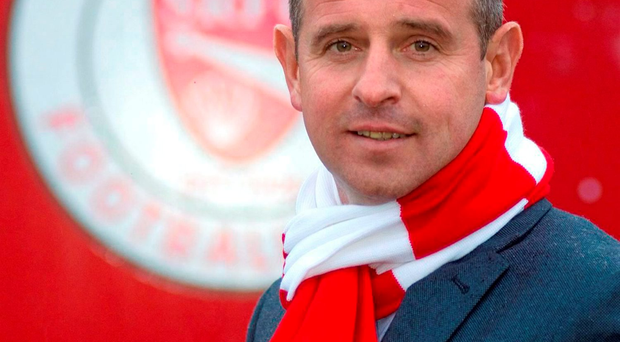 Dave Robertson after he was announced as the new Sligo Rovers manager