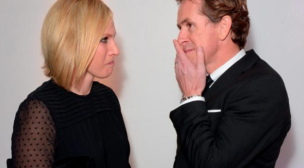 Zara Phillips and Anthony Peter (AP) McCoy at the Being AP gala screening at Millbank Tower, London. PRESS ASSOCIATION Photo. Picture date: Monday November 23, 2015. Photo credit should read: Anthony Devlin/PA Wire