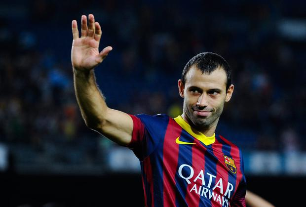 FC Barcelona defender Javier Mascherano is unlikely to be risked
