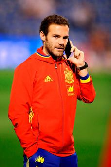 There is hope that Juan Mata will be fit to face PSV