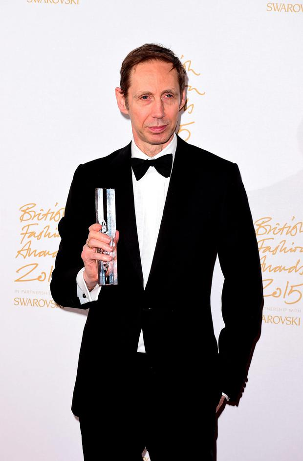Nick Knight Isabella Blow Award for Fashion Creator Award at the London Coliseum, St Martin's Lane, in London. PRESS ASSOCIATION Photo. Picture date: Monday November 23, 2015: Ian West/PA Wire