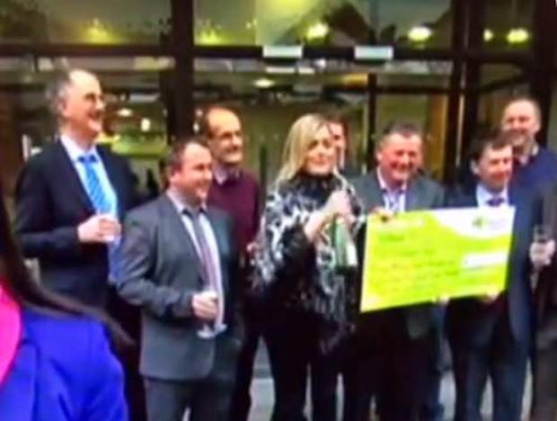 Irish Lotto winner on RTE News