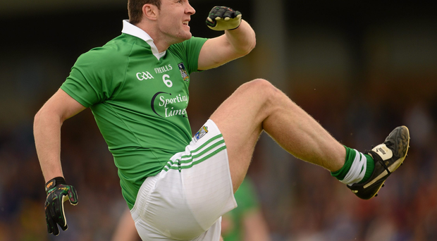 Stephen Lucey in action for the Limerick footballers