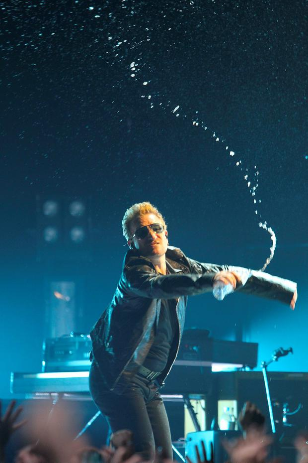 U2 pictured performing in the 3 Arena, Dublin.. Pic Stephen Collins/Collins Photos