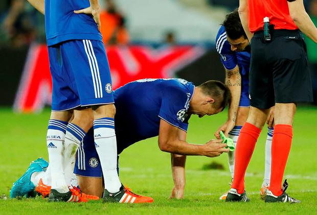 Chelsea's John Terry lies injured Action Images via Reuters / John Sibley Livepic EDITORIAL USE ONLY.