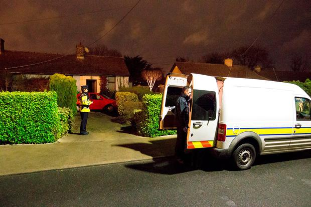 The scene of the fatal fire at Monaloe Crescent, Cabinteely