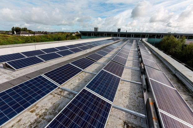 Photovoltaic (PV) panels on the Nenagh Civic Offices