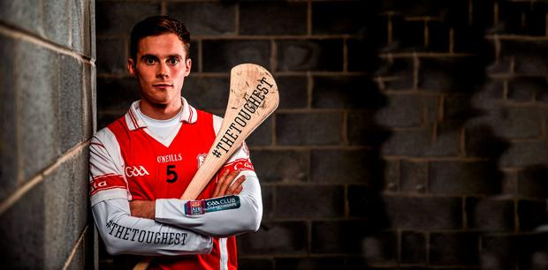 Darragh O'Connell at yesterday's AIB Leinster Club SHC final launch. The Dalkey club against Wexford's Oulart-The Ballagh this Sunday in Dr Cullen Park, Carlow. For exclusive content throughout the AIB Club Championships follow @AIB_GAA and facebook.com/AIBGAA