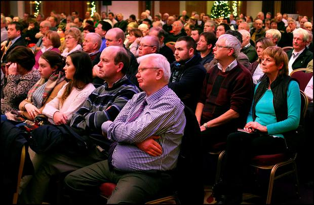 Members of the public attending the Save Our Community meeting