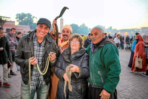 Nancy and Baz handle snakes in '50 Ways to Kill Your Mammy'.