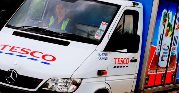 Hundreds of drivers and warehouse workers at Tesco distribution sites are to be balloted for strike action in a row over pay. Photo: Rui Vieira/PA Wire