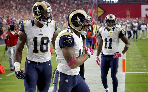 St. Louis Rams wide receiver Stedman Bailey (12) was shot in Miami