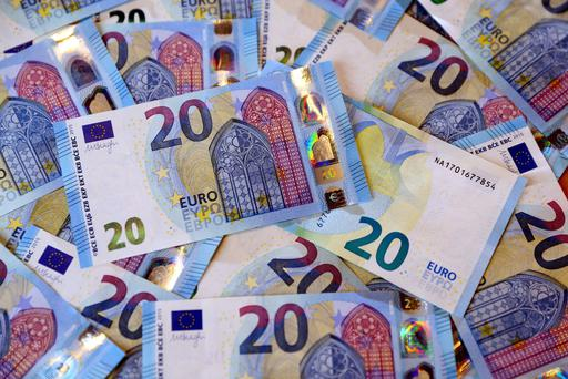 The new €20 banknote. Picture: Jason Clarke.