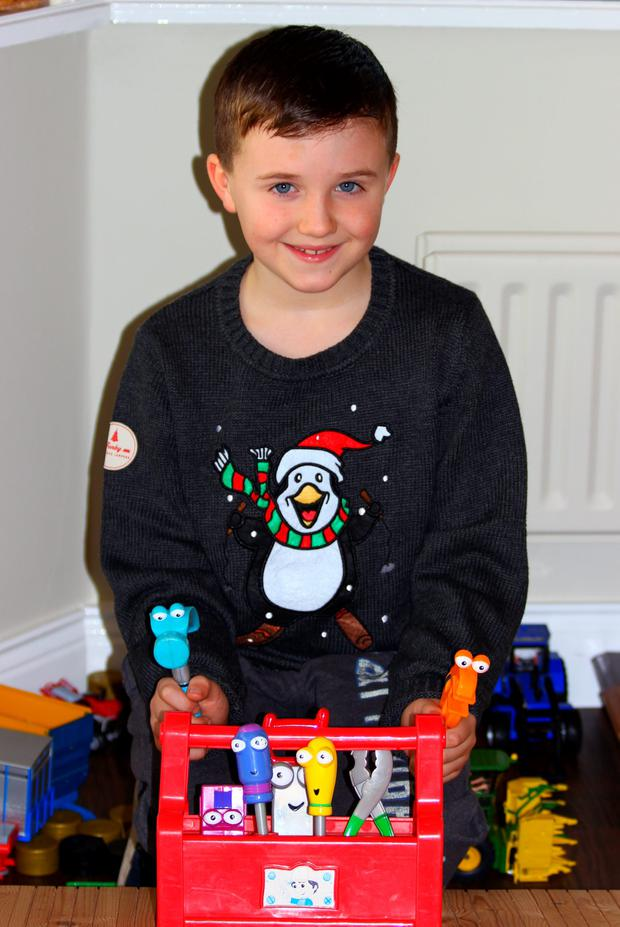 Charlie Brunton (9) is gearing up for his job on the Late Late Toy Show