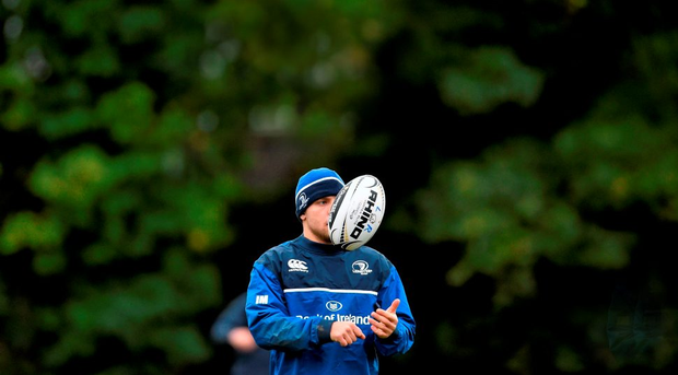 Leinster's Ian Madigan during squad training