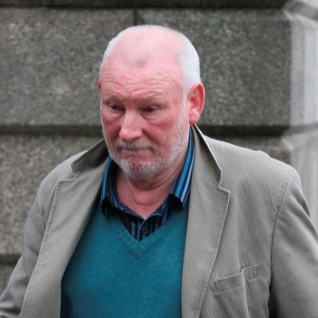 Martin Maguire pictured leaving the Four Courts after his Circuit Civil Court action for damages was dismissed. Pic: Courts Collins